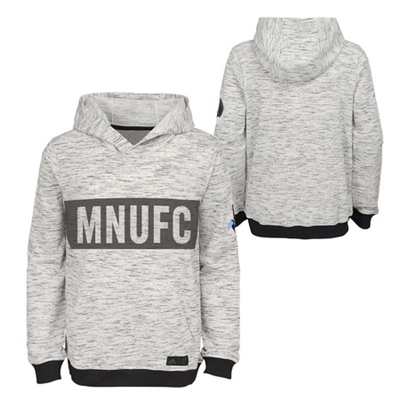 Minnesota United FC Adidas Heathered Gray Pullover Hoodie-YOUTH