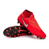 Bright Crimson Nike JR Phantom VSN Academy DF FG/MG