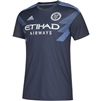 Men's New York City FC adidas Gray 2018 Secondary Replica Jersey-ADULT