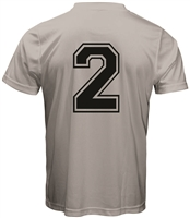Athletic Outline Player Number-Stock