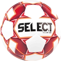 Select Club DB White/Red Soccer Ball-Size 5