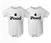 iPood iPeed Infant Polyester Bodysuits-2 Pack