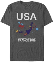2019 WC FIFA France Mens Heather Tee BOGO