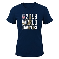 2019 USWNT World Cup Champions Fashion Fit Tee-GIRLS