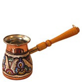 Decorated Turkish Coffee Pot - Slavic Style - XLarge 16 oz