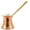 Solid Copper Turkish Coffee with Pot Brass Handle