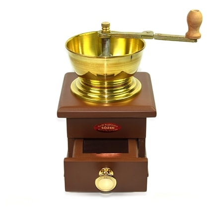 Turkish Coffee Grinder with a Wooden Box