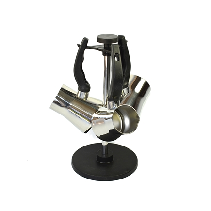 Set of 3 Stainless Steel Turkish Coffee Pots with stand