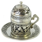 Engraved Turkish Coffee Cup - Nickelized