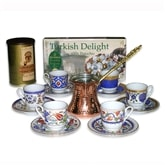Turkish Coffee Set for Six with coffee