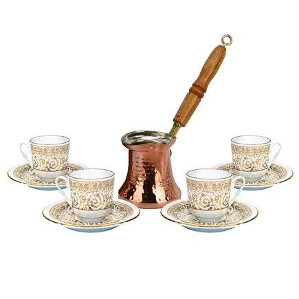 Turkish Coffee Set for Four - Bridal