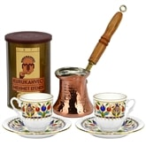 Turkish Coffee Set with Turkish coffee/Tulip