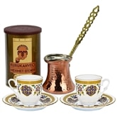 Turkish Coffee Set with Turkish coffee/Blue Green