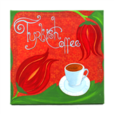 Turkish Coffee Paintings by Ayfer - Tulip II