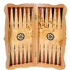 Backgammon Set with Walnut Burl Wood