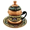 Turkish Coffee Cup with Top and Saucer - 3 oz