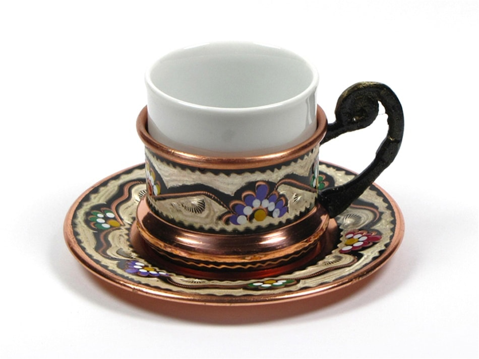 Turkish Coffee Cup With Saucer 3 Oz