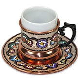 Turkish Coffee Cup with Saucer  6 oz (X-Large)