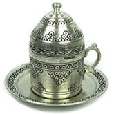 Turkish Coffee Cup with Saucer - grapes