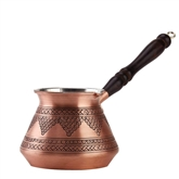 Turkish Coffee Pot with Grapes - Copper