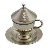 Turkish Coffee Cup with tapered bottom - nickelized