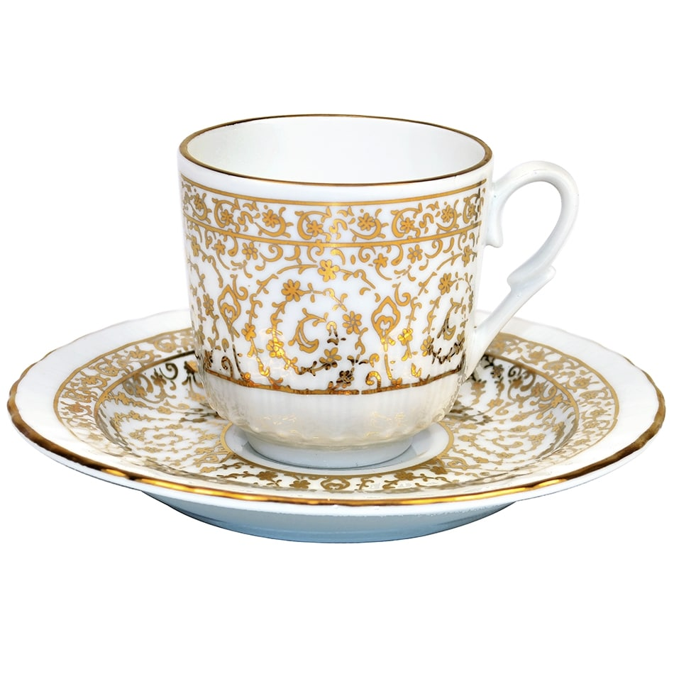 Turkish Coffee Cup With Saucer Porcelain Bridal