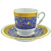 Turkish Coffee Cup with Saucer (Porcelain) Topkapi