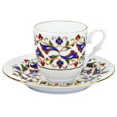 Turkish Coffee Cup with Saucer (Porcelain) - Lilac