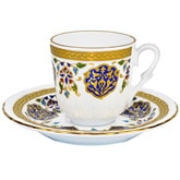 Turkish Coffee Cup with Saucer (Porcelain) - Armor