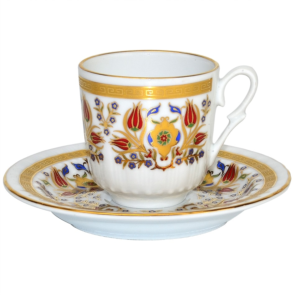 Turkish Coffee Cup With Saucer Porcelain Istanbul