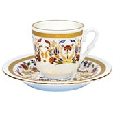 Turkish Coffee Cup with Saucer (Porcelain) - Carnation