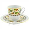 Turkish Coffee Cup with Saucer (Porcelain)  Tulip III