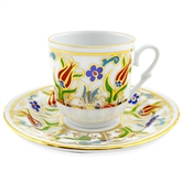 Turkish Coffee Cup with Saucer (Porcelain) Tulip IV