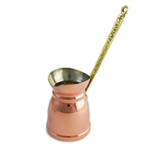 Copper Turkish Coffee Pot with Electrolytic Tinning - Wide Mouth