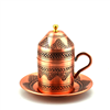 Erzincan Design Turkish Coffee Cup with Grapes