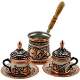 Erzincan Design Turkish Coffee Set for Two