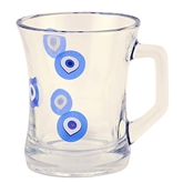 Turkish Coffee or Tea Glass with Eyes (7.5 oz)