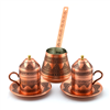 Turkish Coffee Set for Two with Grape Designs