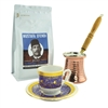 Turkish Coffee Set for One with Mustafa Efendi Gourmet Turkish Coffee - Topkapi