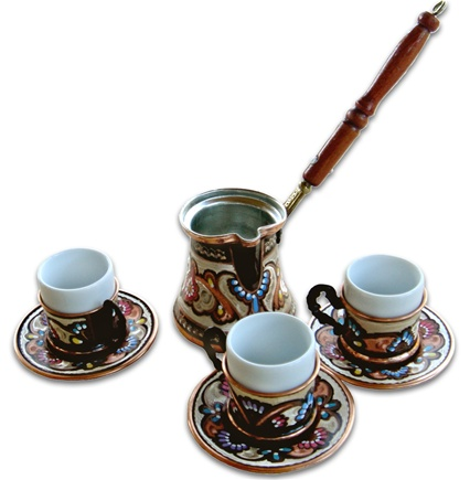 Turkish Coffee Set for Three