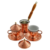 Turkish Coffee Set for Two  with Tapered cups