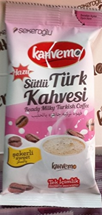 Turkcafe Instant Turkish coffee w/ Milk, Sugar