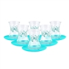Turkish Tea Glasses - Set of Six - Turquoise