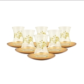 Turkish Tea Glasses - Set of Six - Gold