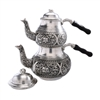 Engraved Turkish Tea Pot - Tinned Copper