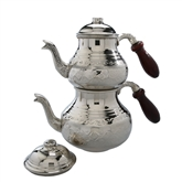 Turkish Tea Pot - Stamped & Nickelized
