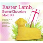 This plastic two-piece mold comes complete with instructions, clips and staffs. Use 1/4 pound (one stick) of butter or substitute chocolate with peanut butter in the center. The front of the mold can also be used to form finger jell-o, placed on a decorat