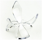 "Acrylic Tulip Reversible 2"" Egg Stand"