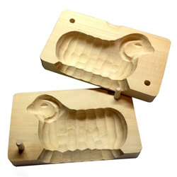 Hand Carved Wooden Butter Mold - Ram. Made in Zakopane this two part mold is still in use in the villages and farms of southern Poland. Since this is the old fashioned method it takes a little more skill to use than the plastic form.