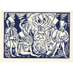 "1919 woodcut print by Wladyslaw Skoczylas. The legendary ""zbojnicy"" or outlaws who robbed the rich to give to the poor."
